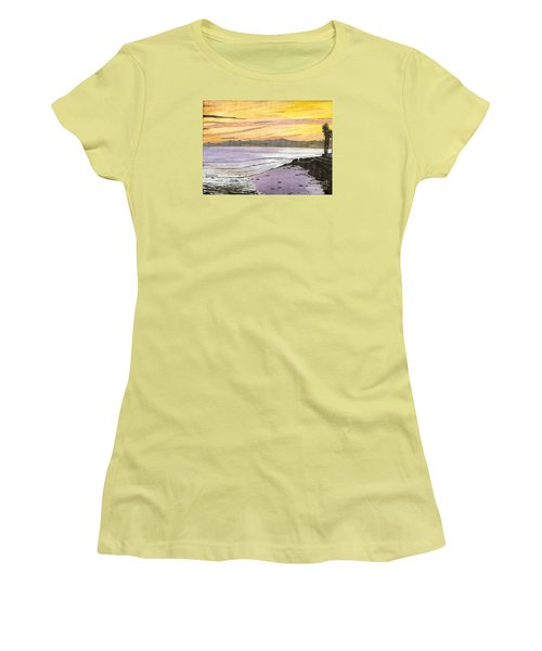 Ventura Point At Sunset Women's T-Shirt (Junior Cut) by Ian Donley