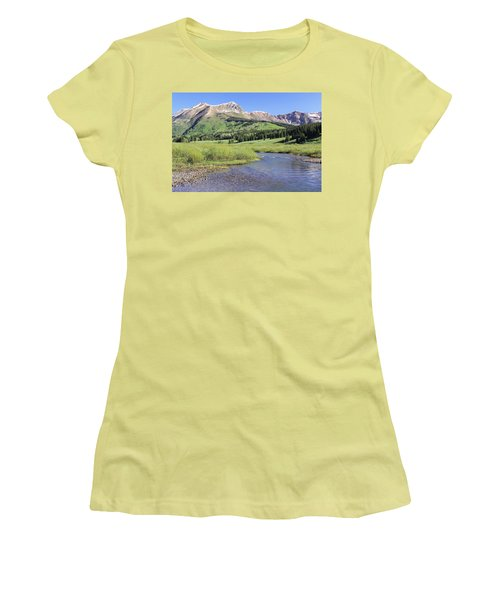 Verdant Valley Women's T-Shirt (Junior Cut) by Eric Glaser