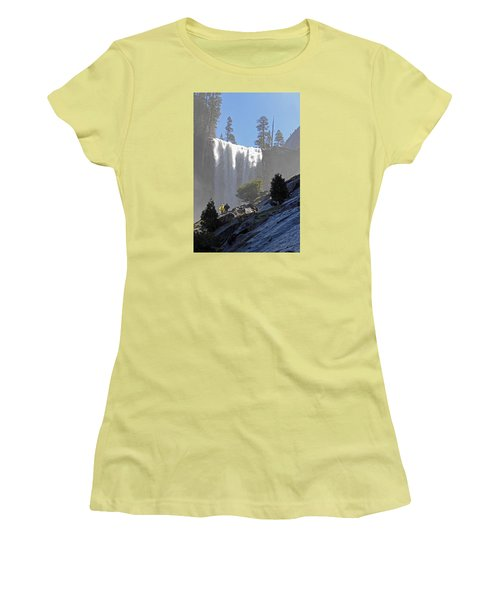 Women's T-Shirt (Junior Cut) featuring the photograph Vernal Falls Mist Trail by Duncan Selby