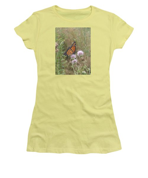 Viceroy On Thistle Women's T-Shirt (Junior Cut) by Robert Nickologianis