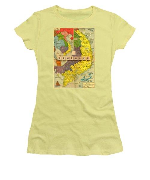 Vietnam War Map Women's T-Shirt (Athletic Fit)