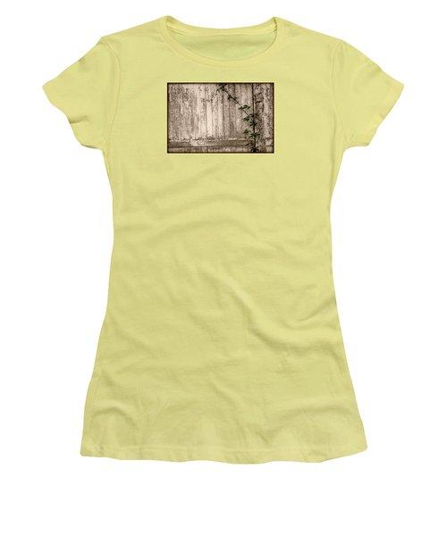 Women's T-Shirt (Junior Cut) featuring the photograph Vine And Fence by Amanda Vouglas