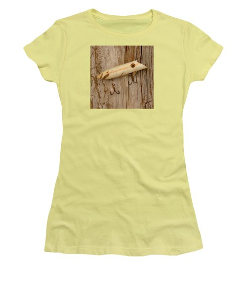 Vintage Fishing Lure Women's T-Shirt (Junior Cut) by Art Block Collections