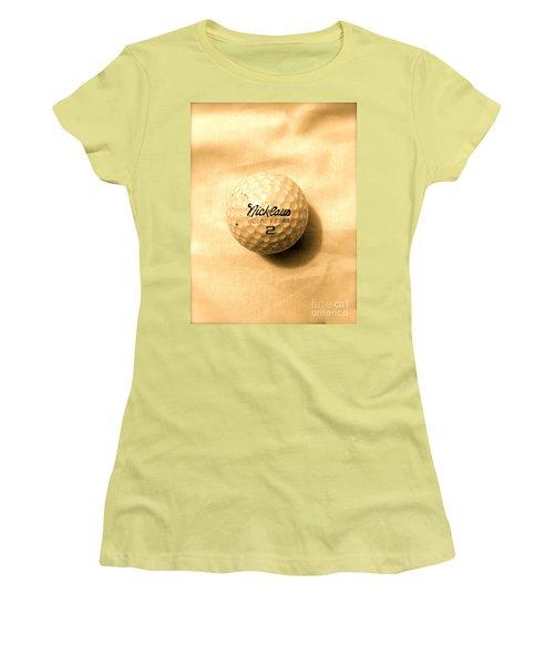 Vintage Golf Ball Women's T-Shirt (Junior Cut) by Anita Lewis