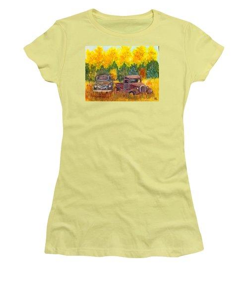 Vintage Trucks Women's T-Shirt (Junior Cut) by Belinda Lawson