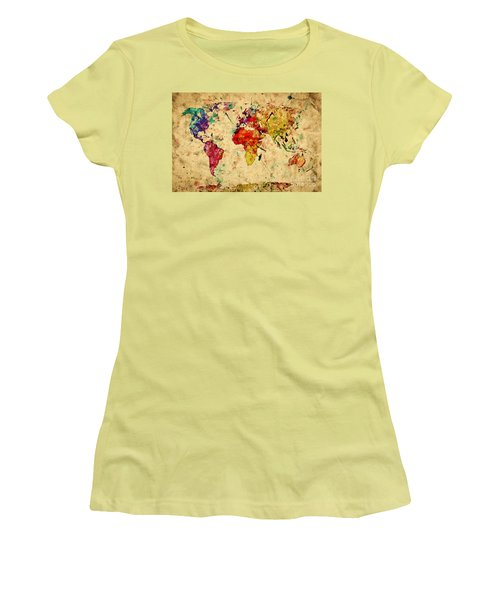Vintage World Map Women's T-Shirt (Athletic Fit)