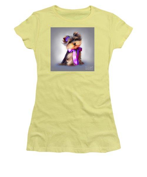 Violet  Women's T-Shirt (Junior Cut) by Catia Cho