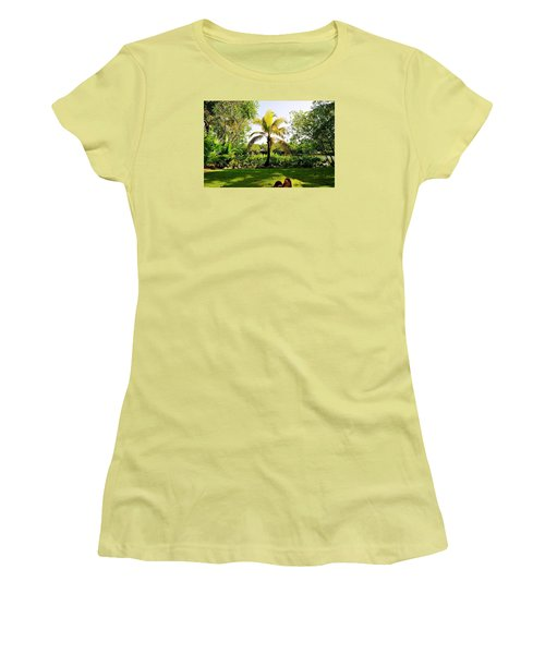 Women's T-Shirt (Junior Cut) featuring the photograph Visiting A Mayan Trail by Kicking Bear  Productions