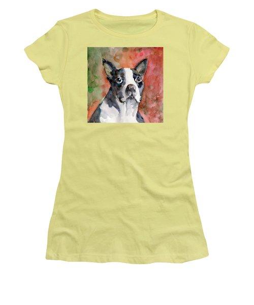 Vodka - French Bulldog Women's T-Shirt (Junior Cut) by Faruk Koksal