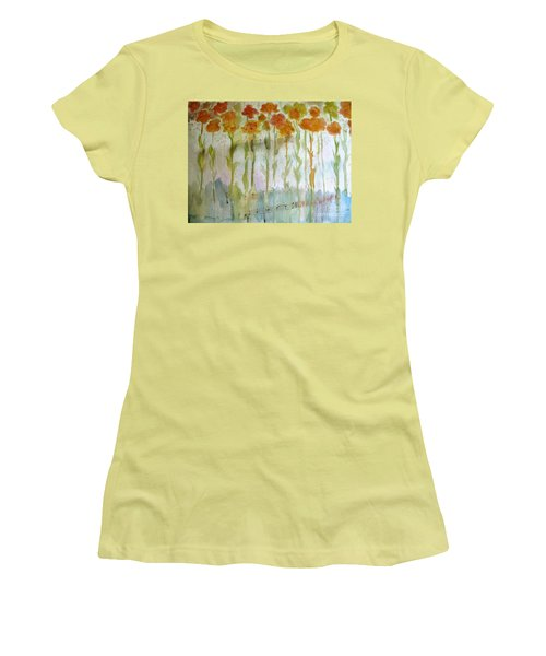 Women's T-Shirt (Junior Cut) featuring the painting Waltz Of The Flowers by Sandy McIntire