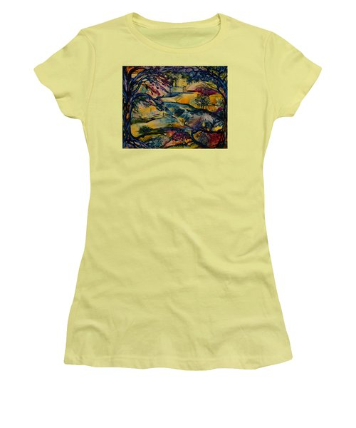 Wandering Woods Women's T-Shirt (Athletic Fit)