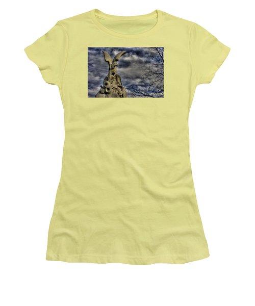 Women's T-Shirt (Junior Cut) featuring the photograph War Eagles - 88th Pa Volunteer Infantry Cameron Light Guard-b1 Oak Hill Autumn Gettysburg by Michael Mazaika