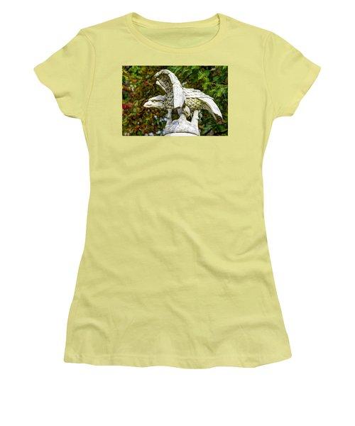 Women's T-Shirt (Junior Cut) featuring the photograph War Eagles - Vermont Company F 1st U. S. Sharpshooters Pitzer Woods Gettysburg by Michael Mazaika