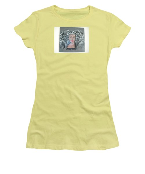 Women's T-Shirt (Junior Cut) featuring the painting Warrior Woman #2 by Sharyn Winters
