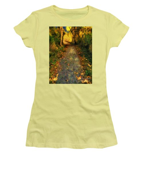 Washed In Gold Women's T-Shirt (Athletic Fit)