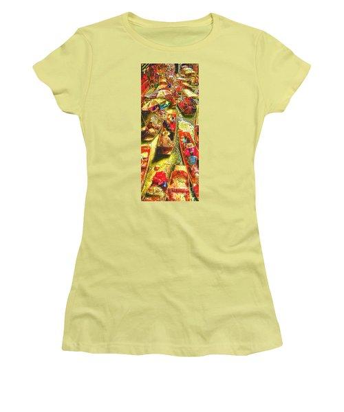 Water Market Women's T-Shirt (Junior Cut) by Mo T