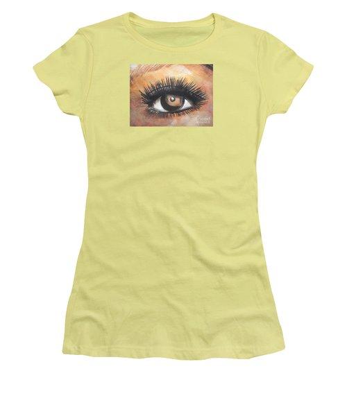 Watercolor Eye Women's T-Shirt (Junior Cut) by Chrisann Ellis