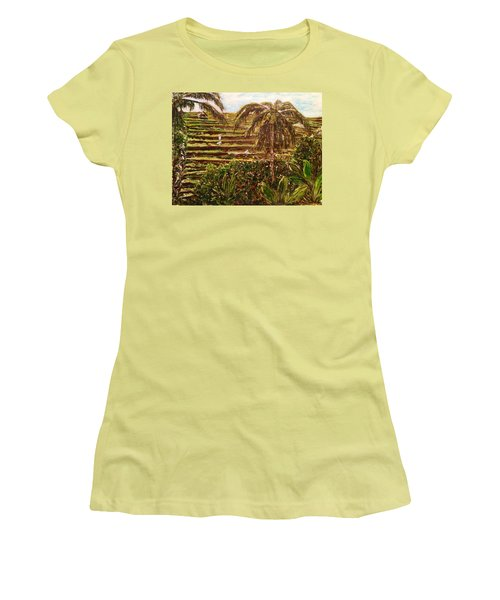 We Work Hard For The Money Women's T-Shirt (Junior Cut) by Belinda Low