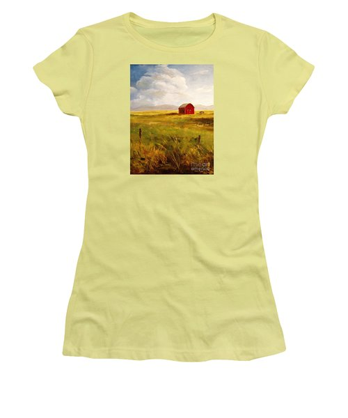 Western Barn Women's T-Shirt (Junior Cut) by Lee Piper