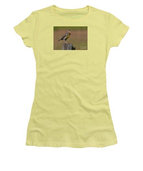 Western Meadowlark.. Women's T-Shirt (Athletic Fit)