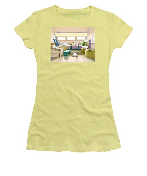 Westie Retreat  Women's T-Shirt (Junior Cut) by Catia Cho