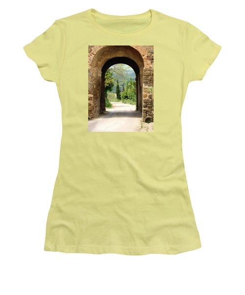 What Lies Ahead Women's T-Shirt (Junior Cut) by Ellen Henneke