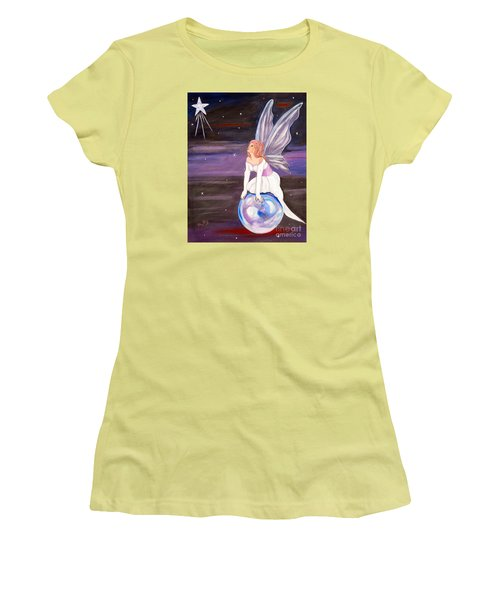 Women's T-Shirt (Junior Cut) featuring the painting When You Dream by Phyllis Kaltenbach
