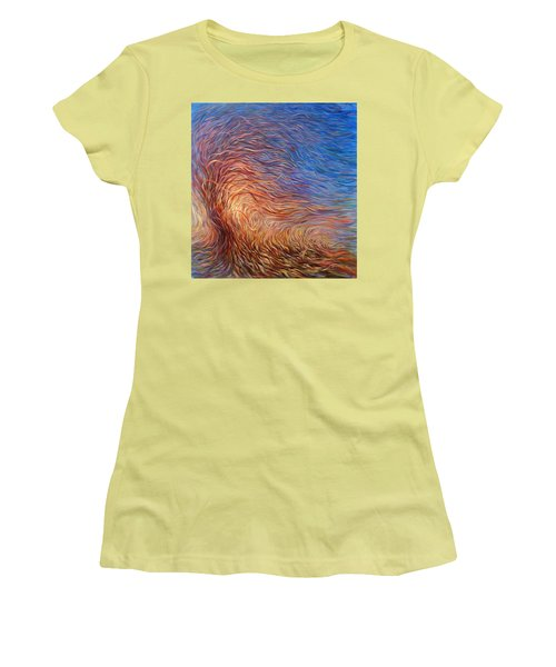 Whirl Tree Women's T-Shirt (Athletic Fit)