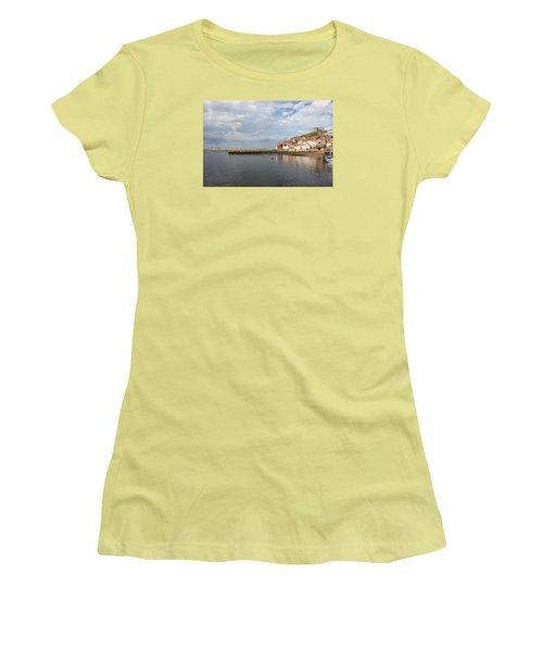 Women's T-Shirt (Junior Cut) featuring the photograph Whitby Abbey N.e Yorkshire by Jean Walker