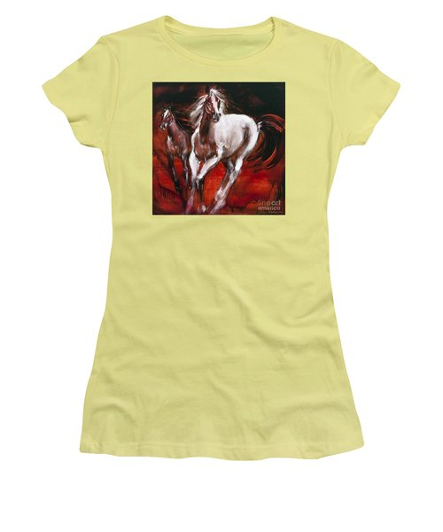 White Knight Women's T-Shirt (Athletic Fit)