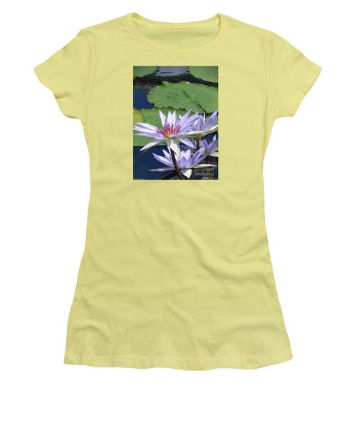 Women's T-Shirt (Junior Cut) featuring the photograph White Lilies by Chrisann Ellis