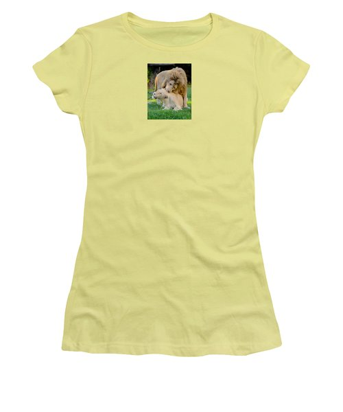 How About A Nibble My Love Women's T-Shirt (Junior Cut) by Venetia Featherstone-Witty