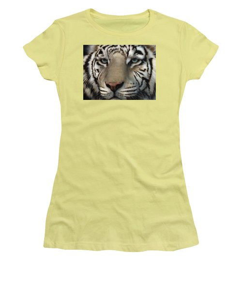 White Tiger - Up Close And Personal Women's T-Shirt (Athletic Fit)