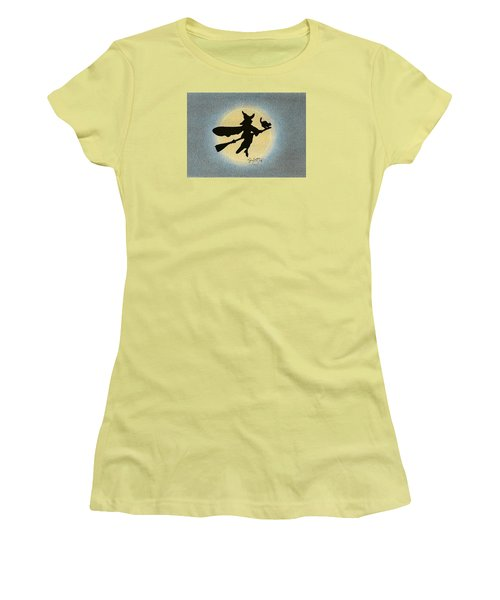 Women's T-Shirt (Junior Cut) featuring the drawing Wicked by Troy Levesque