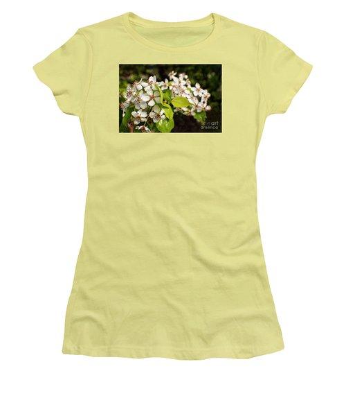 Wild Plum Blossoms Women's T-Shirt (Junior Cut) by Ella Kaye Dickey