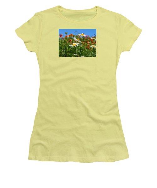 Women's T-Shirt (Junior Cut) featuring the photograph Wild White Daisies #1 by Robert ONeil