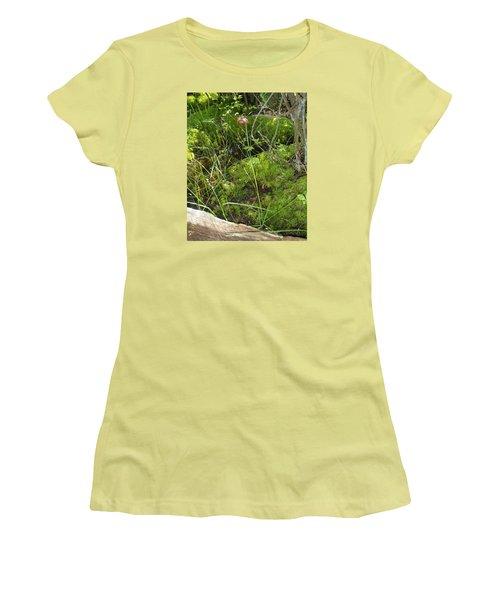 Women's T-Shirt (Junior Cut) featuring the photograph Wildflower 1 by Robert Nickologianis