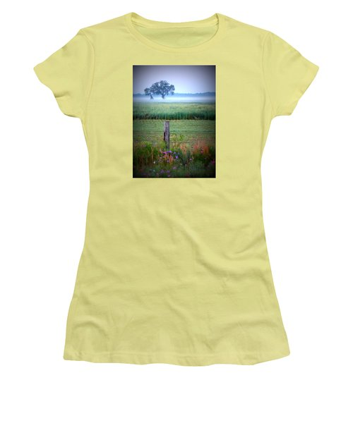 Wildflowers And Fog Women's T-Shirt (Athletic Fit)