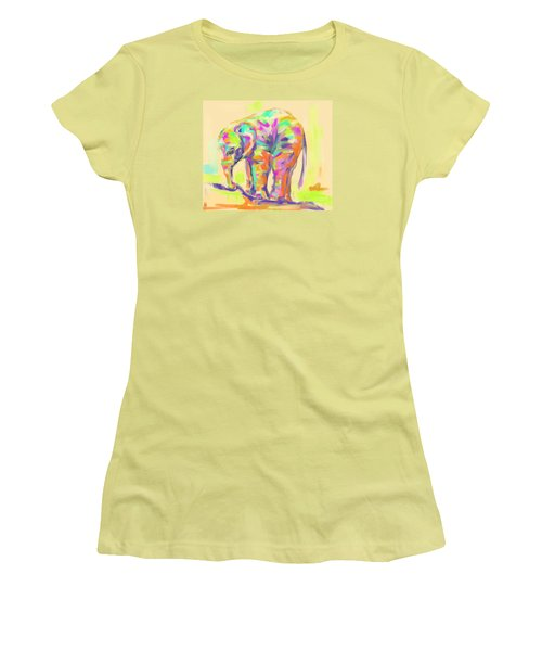 Wildlife Baby Elephant Women's T-Shirt (Junior Cut) by Go Van Kampen