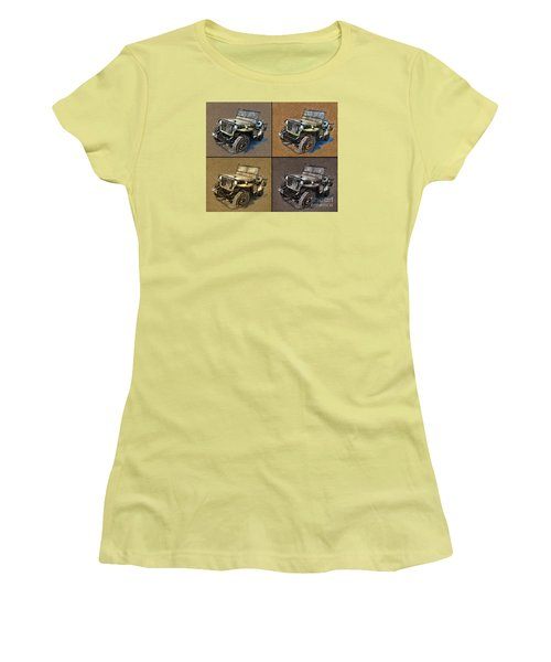 Willys Jeep Mb Car Drawing Women's T-Shirt (Athletic Fit)