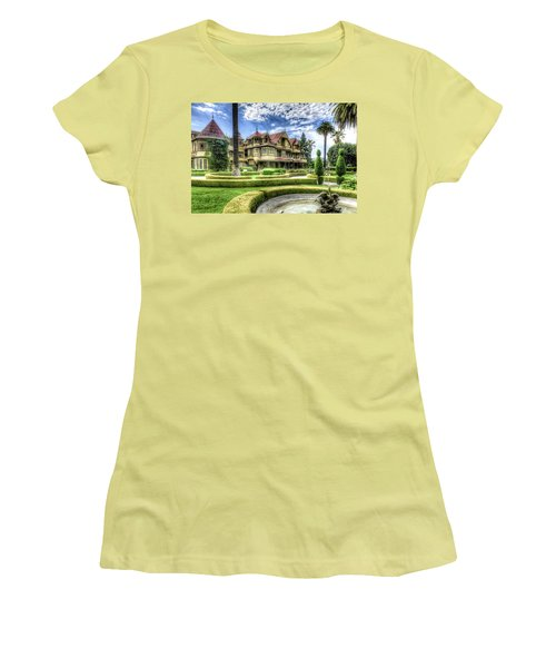 Winchester Mystery House Women's T-Shirt (Junior Cut) by Jim Thompson