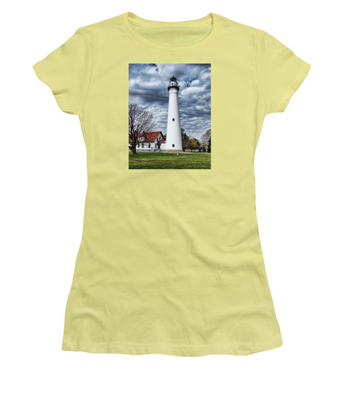 Wind Point Lighthouse Women's T-Shirt (Athletic Fit)