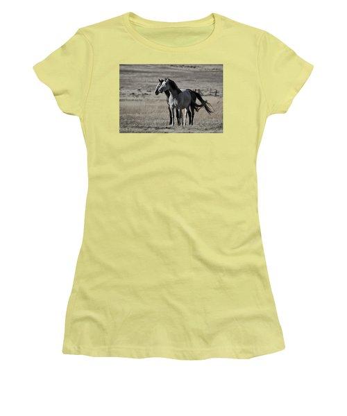 Windblown Women's T-Shirt (Junior Cut) by Wes and Dotty Weber