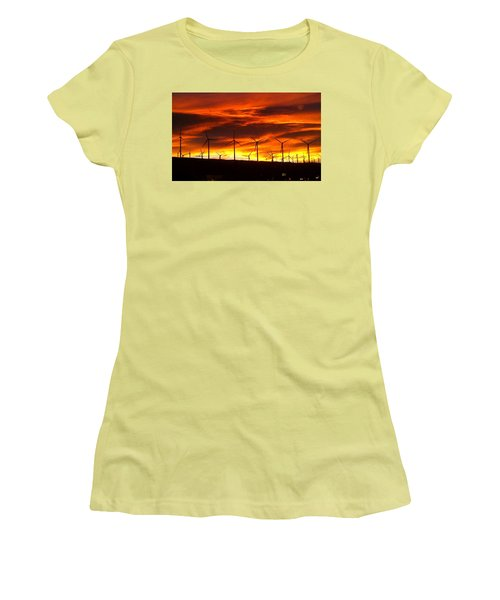 Women's T-Shirt (Junior Cut) featuring the photograph Shades Of Light  by Chris Tarpening