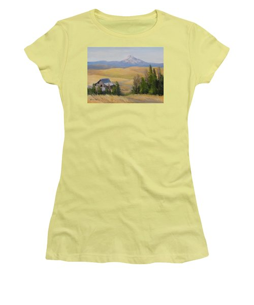 Women's T-Shirt (Junior Cut) featuring the painting Windswept by Karen Ilari