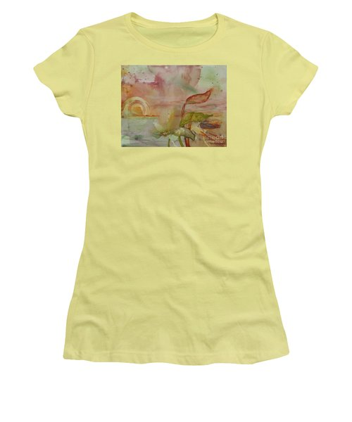 Women's T-Shirt (Junior Cut) featuring the painting Windswept by Robin Maria Pedrero