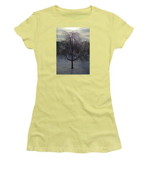 Winter Candelabrum Women's T-Shirt (Junior Cut) by Henryk Gorecki