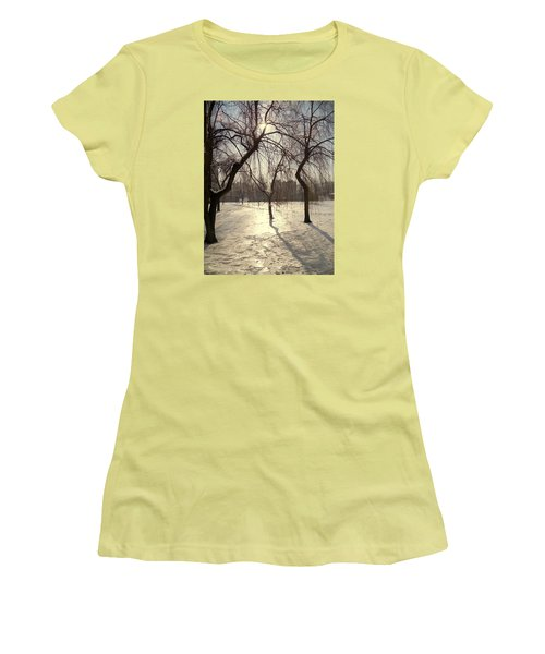 Willows In Winter Women's T-Shirt (Junior Cut) by Henryk Gorecki