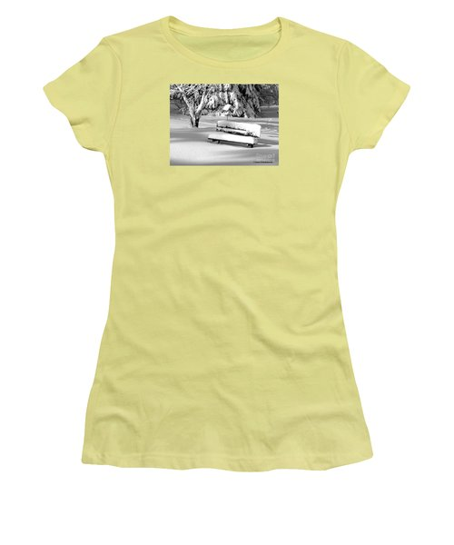 Women's T-Shirt (Junior Cut) featuring the photograph Winter Morning by Susan  Dimitrakopoulos