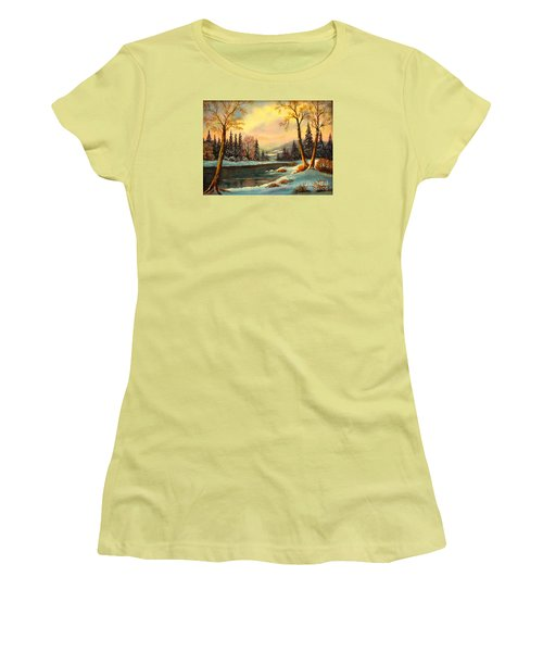 Winter Splendor Women's T-Shirt (Junior Cut) by Hazel Holland
